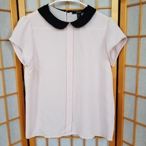 Forever 21 Tops - 🌸 Forever 21 Blush Pink Blouse with Club Collar